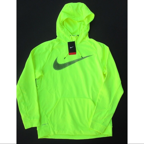 watch bfa1b e8107 Neon Green Nike Men's Hoodie